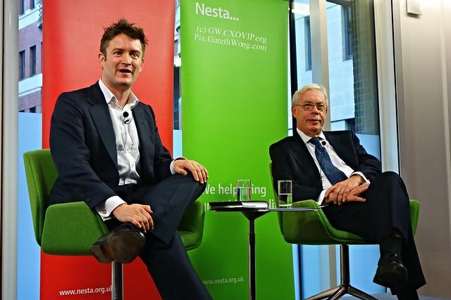 Stian Westlake with Prof John Kay on book