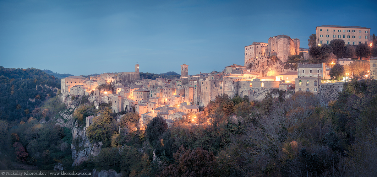 Panorama of medieval town Sorano