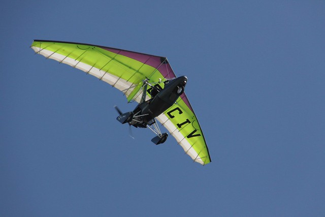 Microlight in the sky of Portsmouth