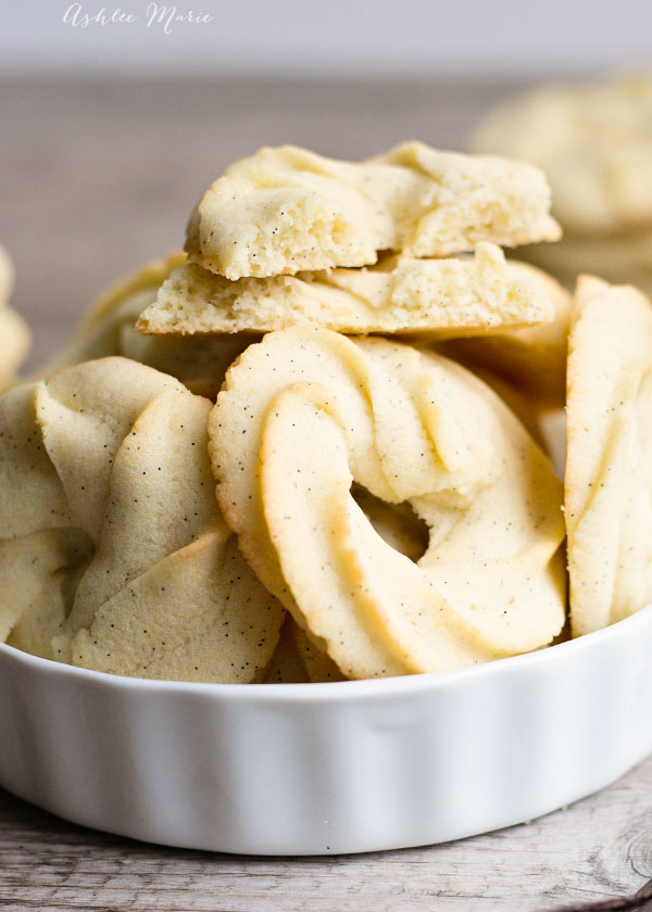 traditional danish butter cookies are a classic holiday cookie, made with vanilla beans this recipe is over the top delicious and will be a huge hit year round