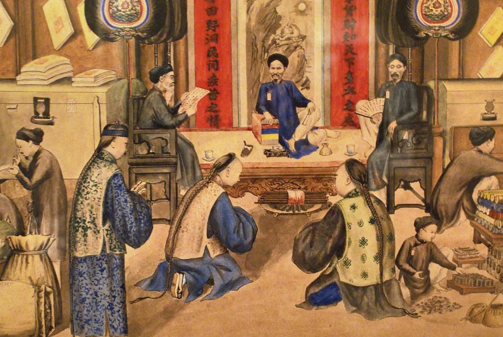 Illustration d'un des empereurs vietnamien au 19e ou début du 20 e siècle.