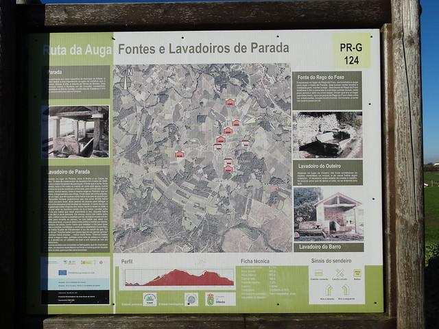 Panel Inicio PR-G 124 Ruta da Auga, Fontes e Lavadoiros de Parada