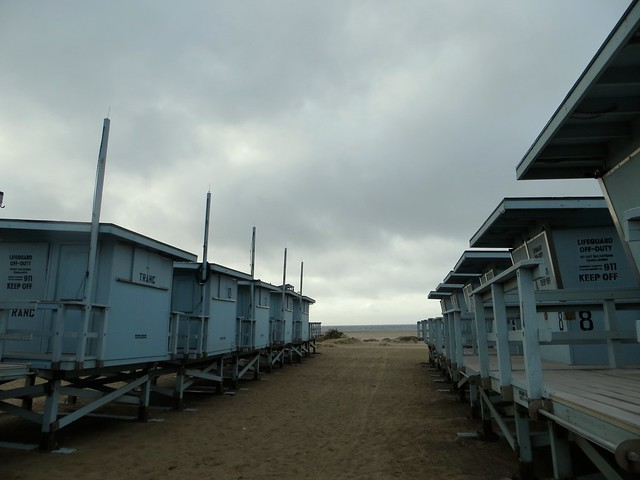 lifeguard towers in winter