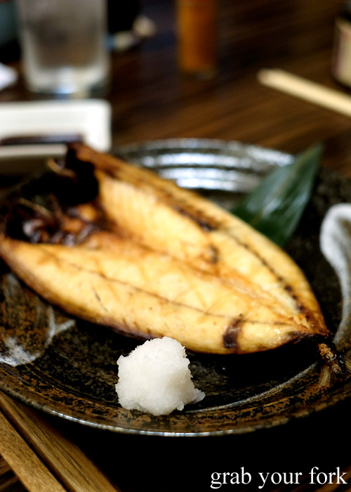 Saba mackerel at Tsubohachi Izakaya in Hakodate, Hokkaido