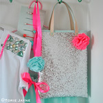 silver glitter bag tutorial