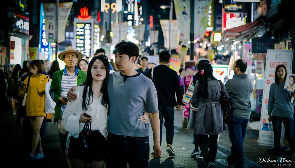 Navigating through the lights of Myeongdong