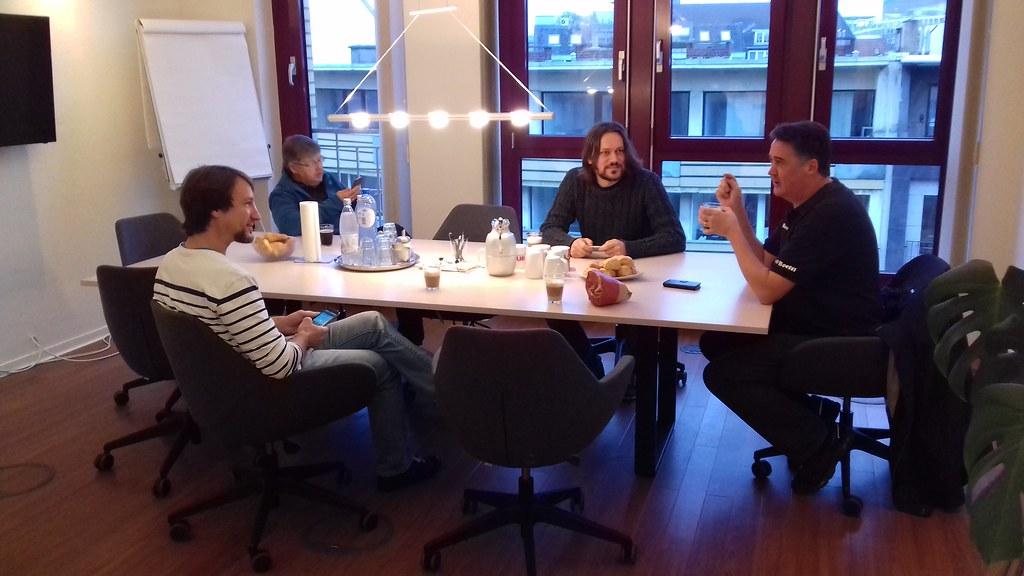 Diskussionen beim Lean Coffee