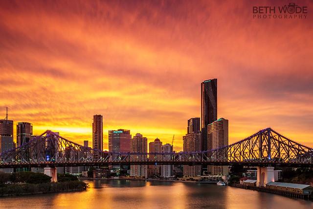 Brisbane on Fire - Explored 23/10/16