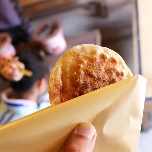 せんべい焼き体験、いただきます。 #日光江戸村 #edowonderland