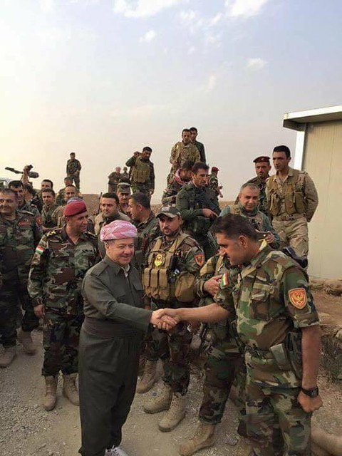 Peshmerga at war against the Isis-terrorists.