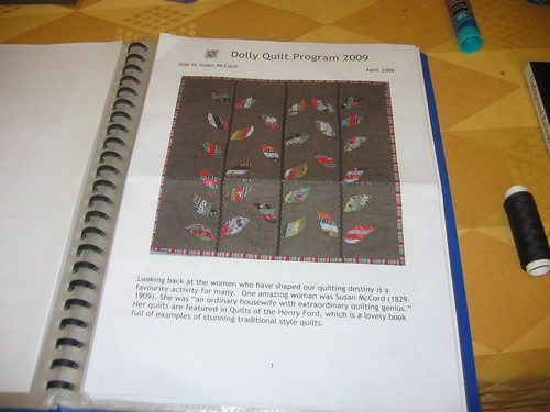 Ode to Susan McCord Dolly quilt