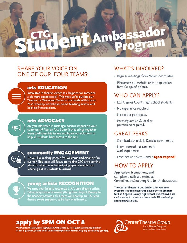 CTG's Student Ambassador Program