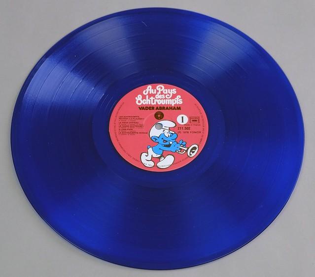 """VADER ABRAHAM AU PAYS DES SCHTROUMPFS BLUE VINYL FONIOR FOC 12"""" LP VINYL"""
