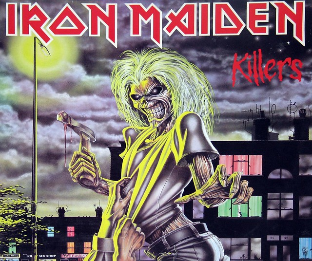 "IRON MAIDEN Killers Label Art Germany 12"" Vinyl LP"