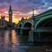Big Ben Sunset by James Neeley