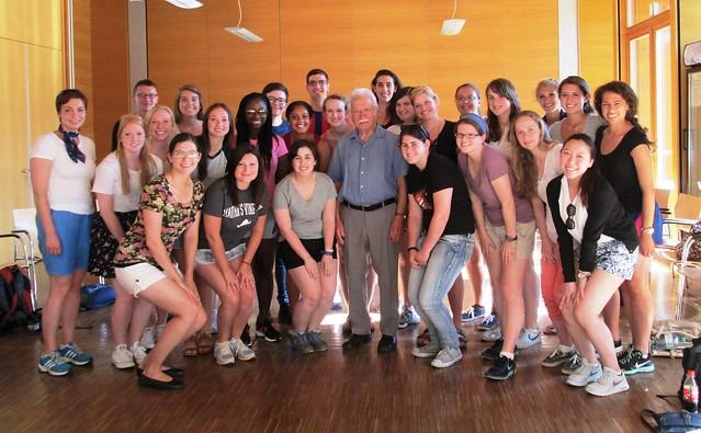 Dialogue Students with Holocaust Survivor