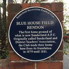 Photo of Sunderland Association Football Club blue plaque