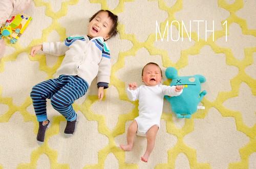 Oliver & Elliot - Month 1
