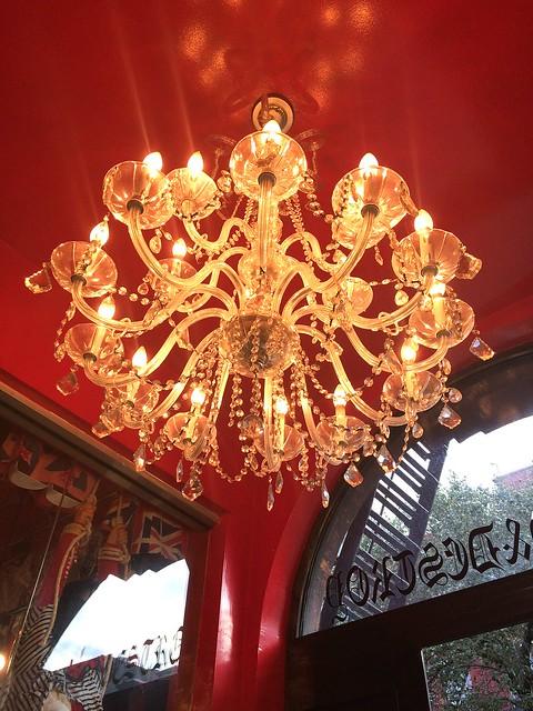 chandelier inside s & d