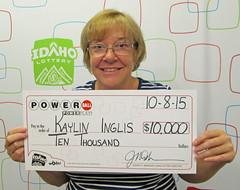 Kaylin Inglis - $10,000 Powerball!
