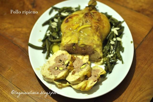pollo ripieno con salsiccia e pistacchi