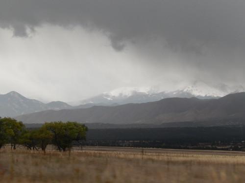 Slecht weer bij Pikes Peak