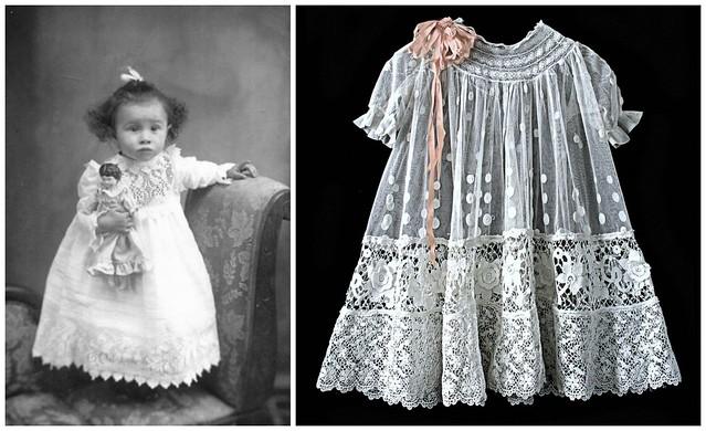 Robes vintage de petite fille
