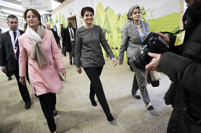 Ségolène Royal et Najat Vallaud Belkacem dans les espaces Générations climat / Ségolène Royal and Najat Vallaud Belkacem in the climate Generations areas
