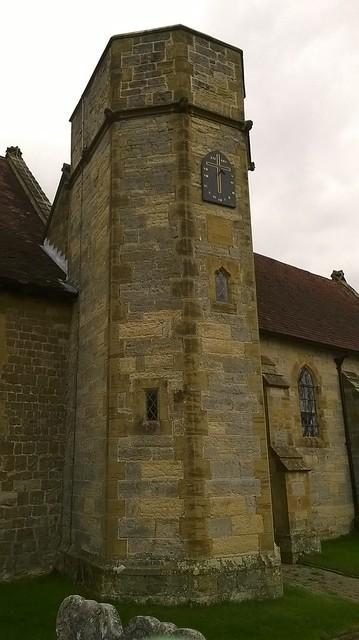 Clock in at Leigh church