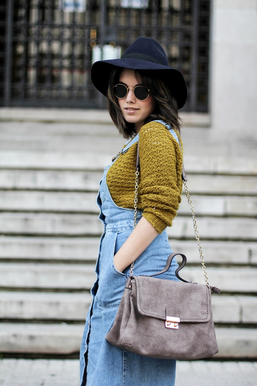 denim pinafore dress zara myblueberrynightsblog