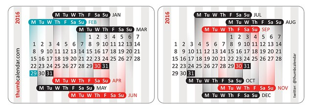 Thumb Calendar 2016