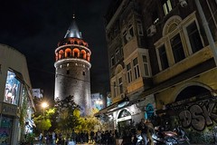 Party below Galata Tower