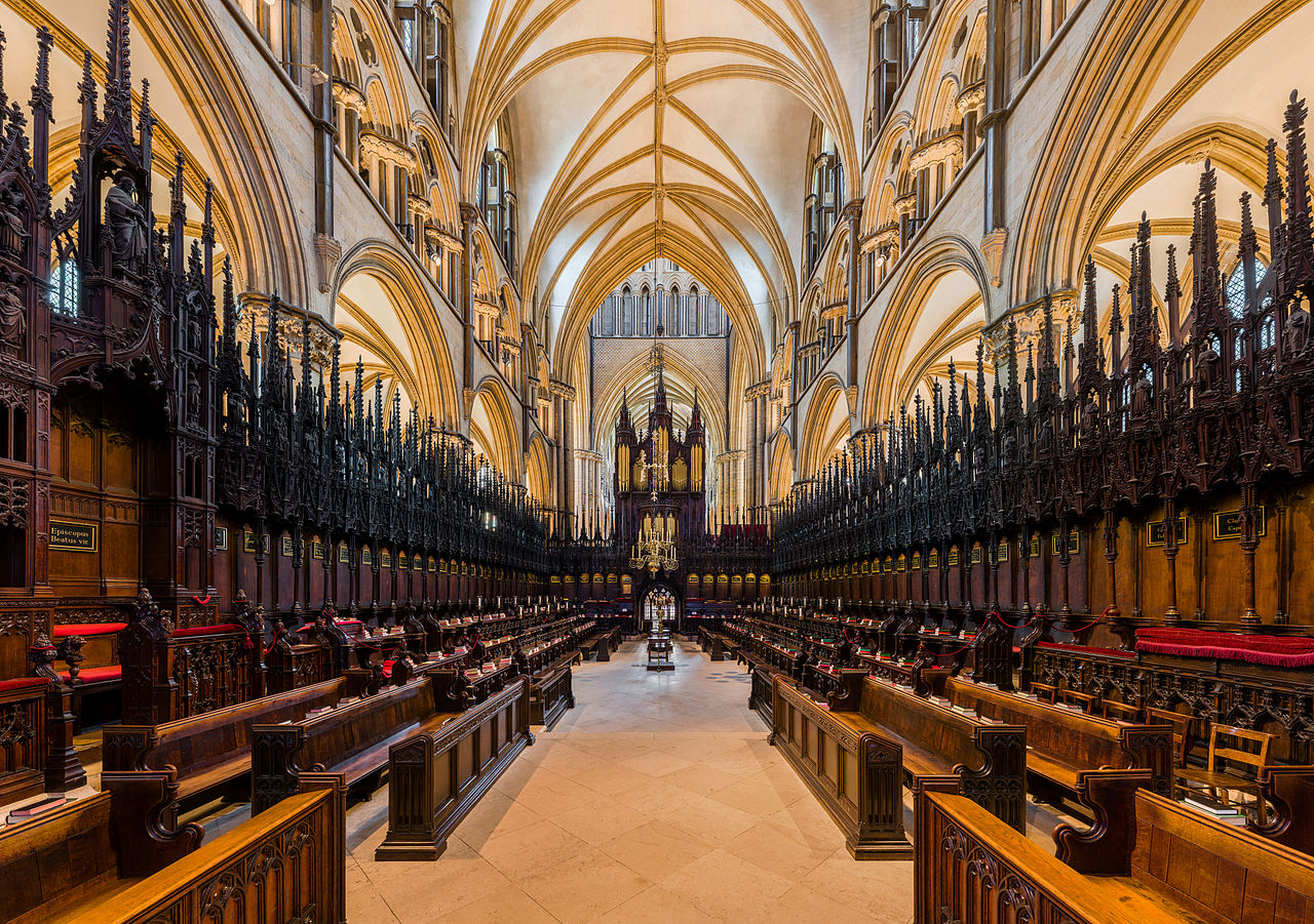 Lincoln Cathedral - The choir looking west. Credit: David Iliff