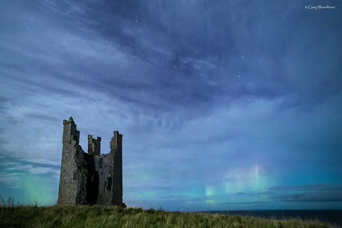 The Magic Tower - Aurora Borealis, Dunstanburgh Castle, Northumberland