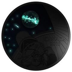 Burke-Gaffney Observatory coin in dark
