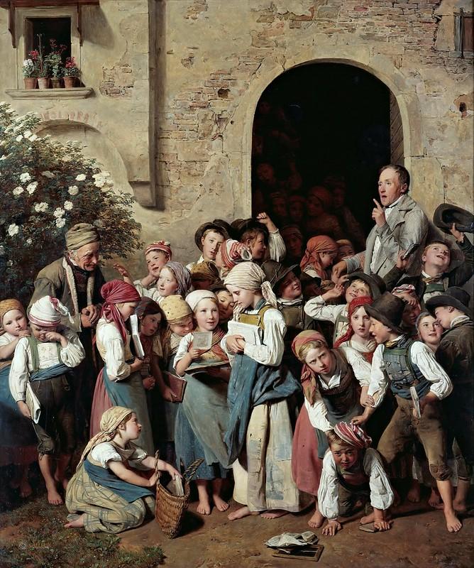 Ferdinand Georg Waldmüller - After School (1841)