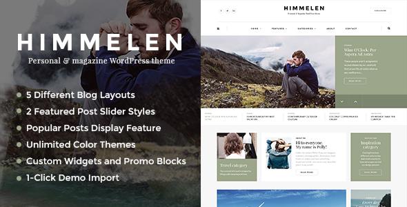 Themeforest Himmelen v1.0.4 - Personal WordPress Blog Theme