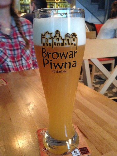 The Hefewiezen at Browar Piwna.  Nice drop with a buttery taste.
