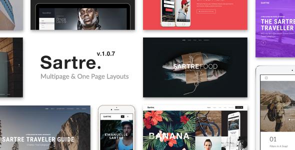 Sartre v1.0.7 - Creative Multipurpose HTML Template