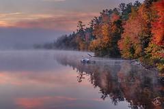 A #berkshire sunrise. The early morning fog made for some amazing atmosphere. I only wish I had mornings like this back home.   Prints www.jeremygarretson.com  #landscapephotography #berkshires #massachusetts #fall #landscape_captures #splendid_reflection