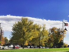 A beautiful day in Colorado! #beautiful #fall #leaves #lifeisgood #colorado #lakewood #scenery #USA #clouds #sky