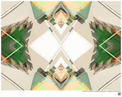 Modern Mandala Title: Lally-Cooler Is a Real Success or Building Detail Studio  City XII  #BartRoss ©2016  #studiocity #mirrored #artists_magazine #abstractphotography  #artprints #sharingart #Curator #LAart #artistic_share #surreal42  #abstrac