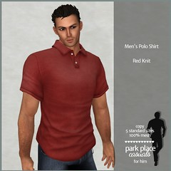 [PP Casuals] Men's Polo Shirt - Red