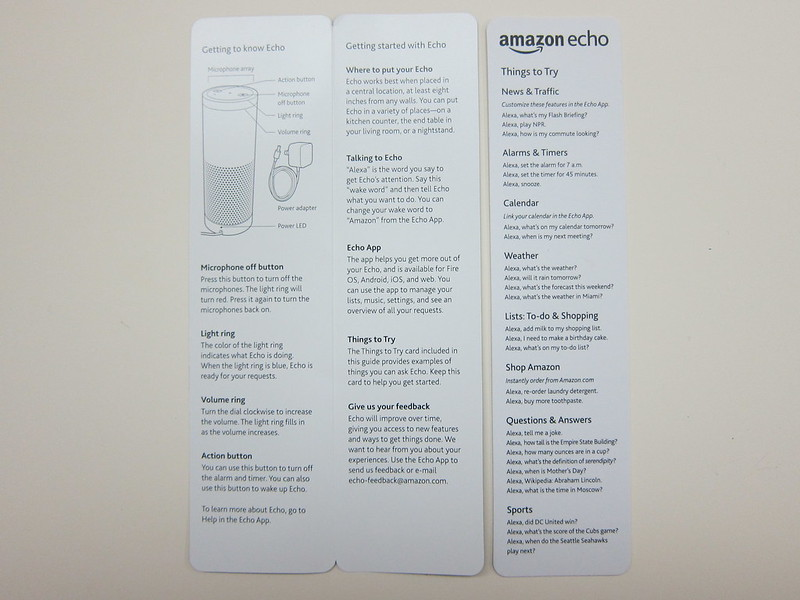 Amazon Echo - Instructions