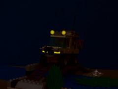Amazon Crossing at night