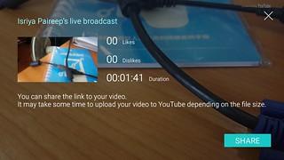 YouTube Live Broadcast