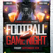 Football Game Night Flyer PSD Template