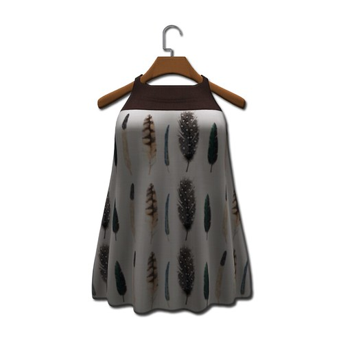 {MYNX} Tunic Dress - Feathers