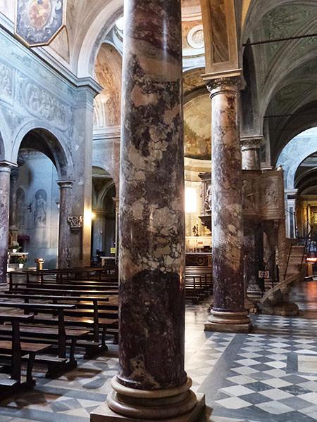 colonnes de marbre