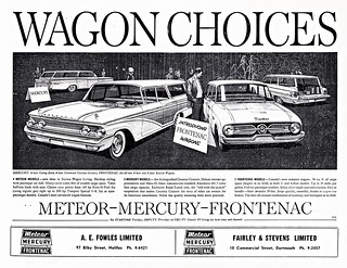 1960 Mercury & Frontenac Station Wagons